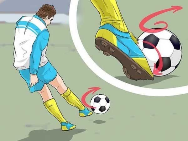 Kỹ thuật sút bóng bằng mu bàn chân mạnh chính xác